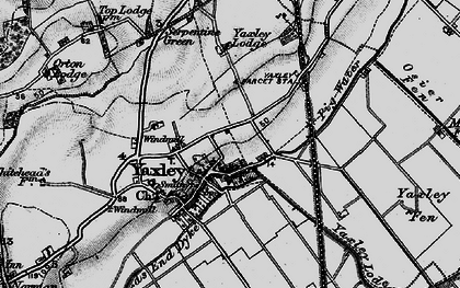 Old map of Yaxley in 1898