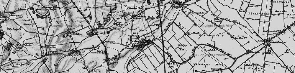 Old map of Yaxley Lode in 1898