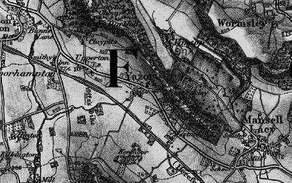Old map of Yazor in 1898