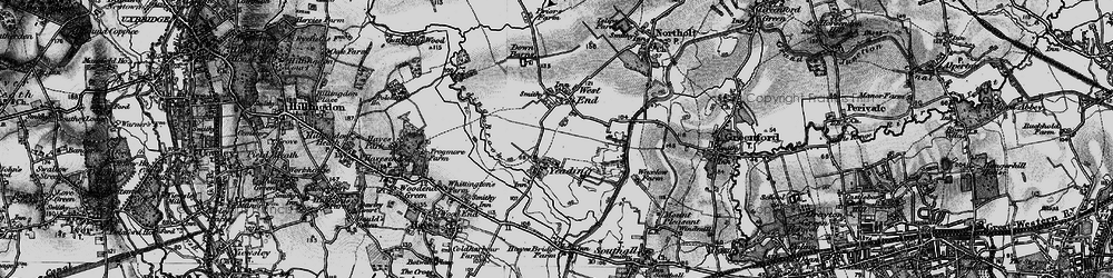 Old map of Yeading in 1896
