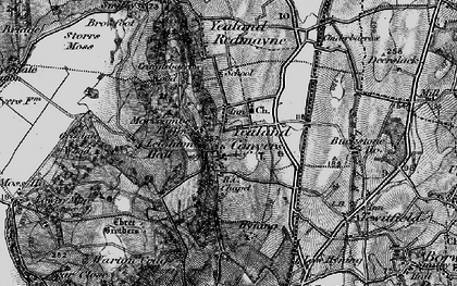 Old map of Yealand Conyers in 1898