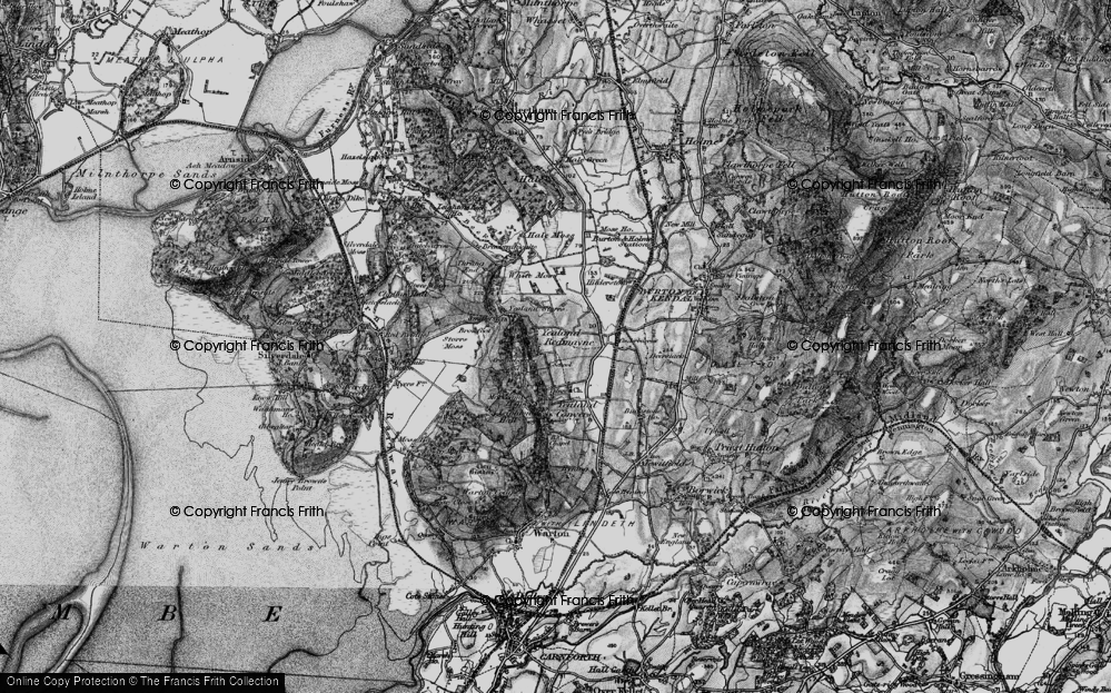 Old Map of Yealand Redmayne, 1898 in 1898
