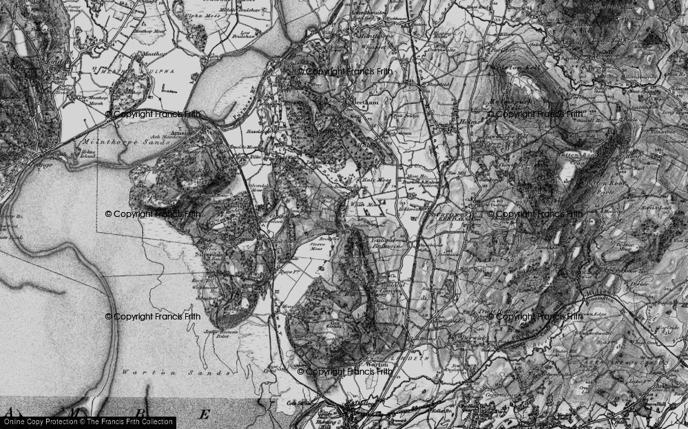 Old Map of Historic Map covering Leighton Ho in 1898