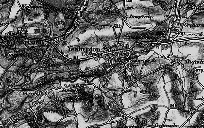 Old map of Wrescombe in 1897
