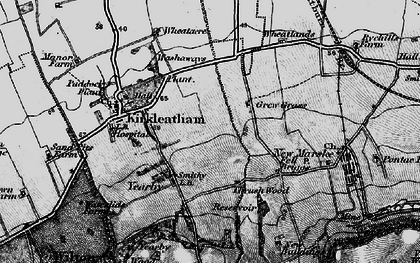 Old map of Yearby in 1898