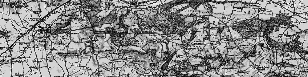 Old map of Yearsley Moor in 1898
