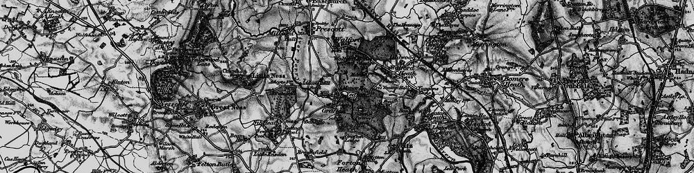 Old map of Adcote Mill in 1899