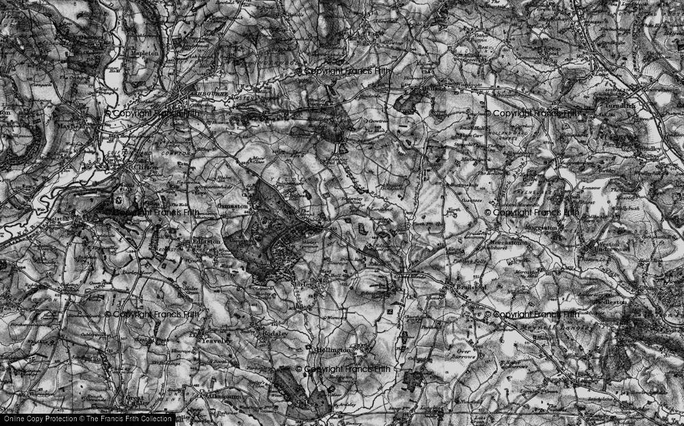 Old Map of Yeldersley Hollies, 1897 in 1897