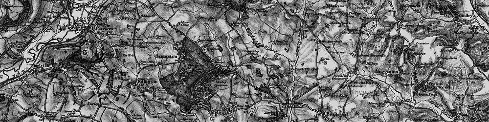Old map of Yeldersley Hollies in 1897