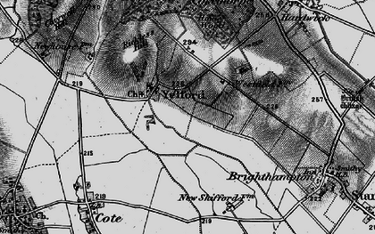 Old map of Yelford in 1895