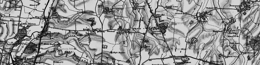 Old map of Yelling in 1898