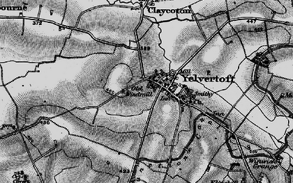 Old map of Yelvertoft in 1898