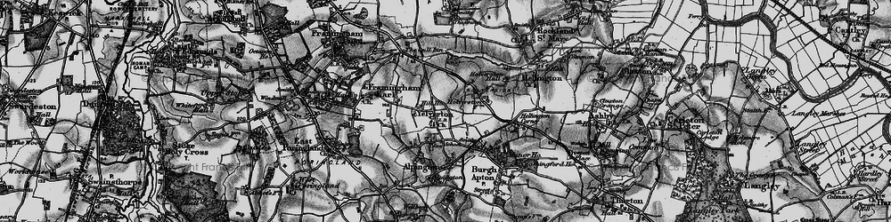 Old map of Yelverton in 1898