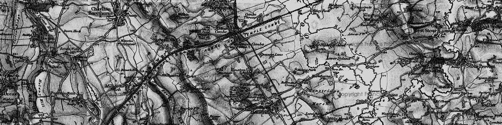 Old map of Yenston in 1898
