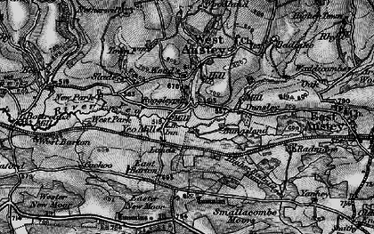 Old map of Yeo Mill in 1898