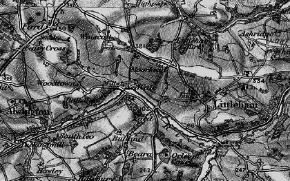 Old map of Yeo Vale in 1895