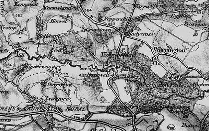 Old map of Yeolmbridge in 1895