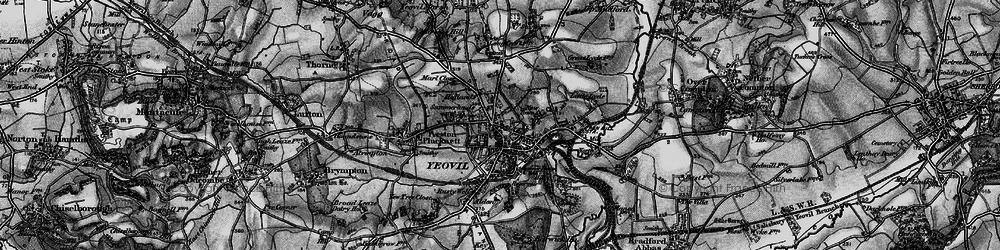 Old map of Yeovil in 1898