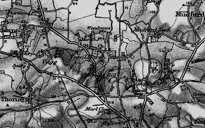 Old map of Yeovil Marsh in 1898