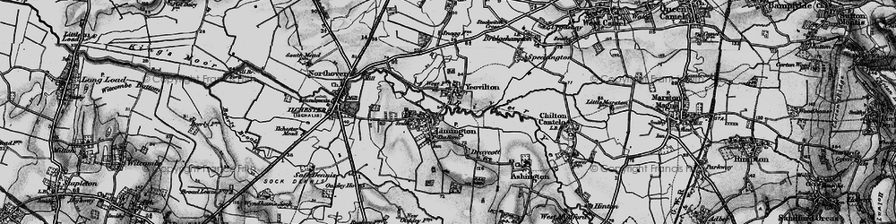 Old map of Yeovilton in 1898