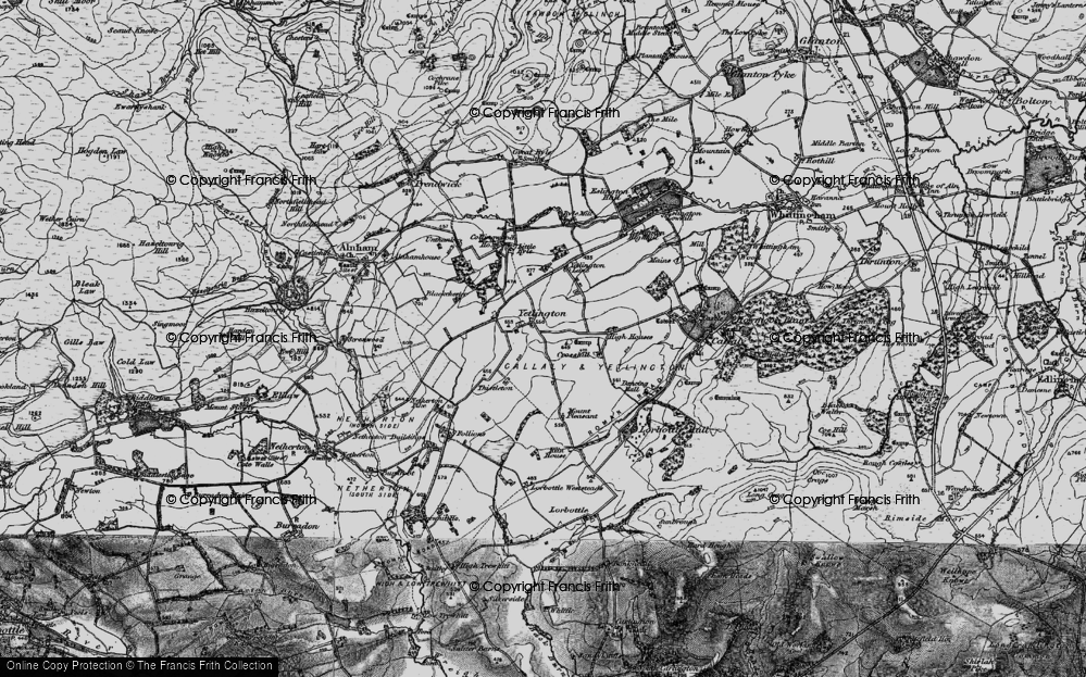 Old Map of Historic Map covering Tod-le-Moor in 1897
