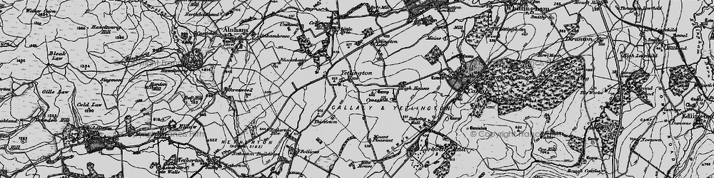 Old map of Yetlington in 1897