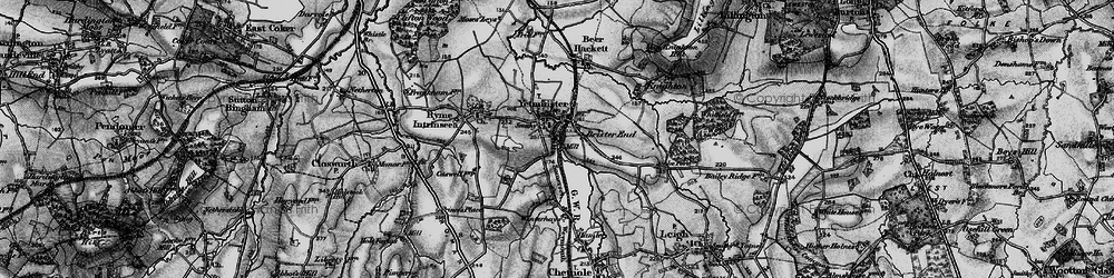 Old map of Yetminster in 1898