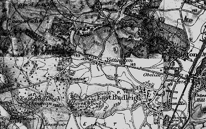 Old map of Hayes Barton in 1898