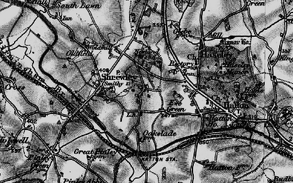 Old map of Yew Green in 1898