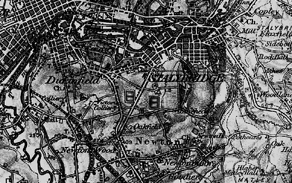 Old map of Yew Tree in 1896