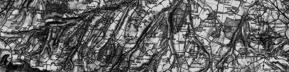 Old map of Yewhedges in 1895