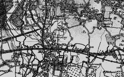 Old map of Yiewsley in 1896