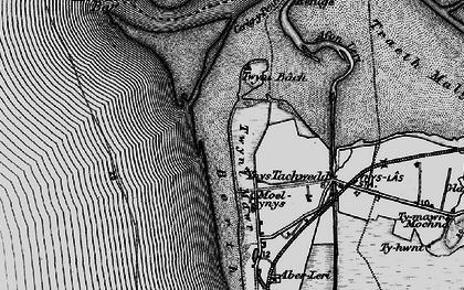 Old map of Ynys Tachwedd in 1899