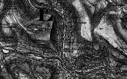 Old map of Ynyshir in 1897