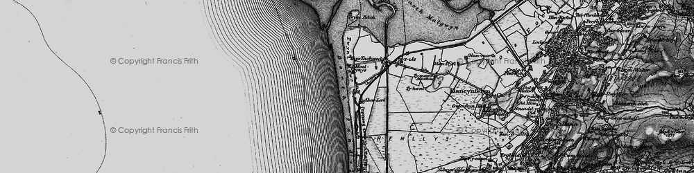 Old map of Ynyslas in 1899