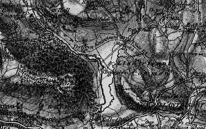 Old map of Ynysmaerdy in 1897
