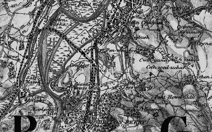 Old map of Ynysmaerdy in 1898