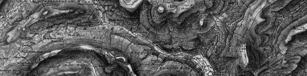 Old map of Yockenthwaite Moor in 1897