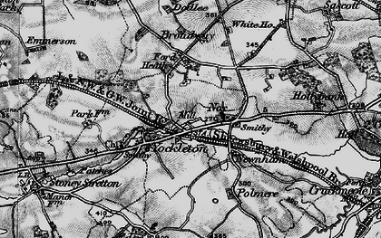Old map of Yockleton in 1899