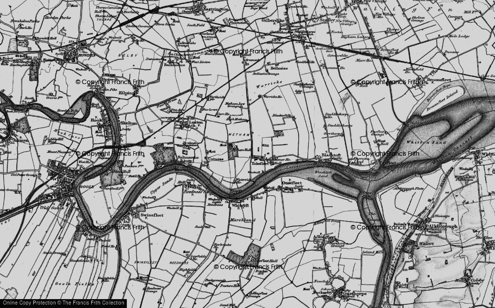 Old Map of Yokefleet, 1895 in 1895