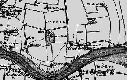 Old map of Yokefleet in 1895