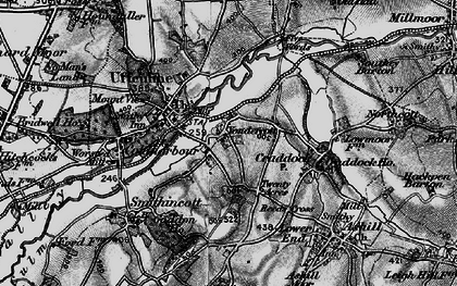 Old map of Yondercott in 1898