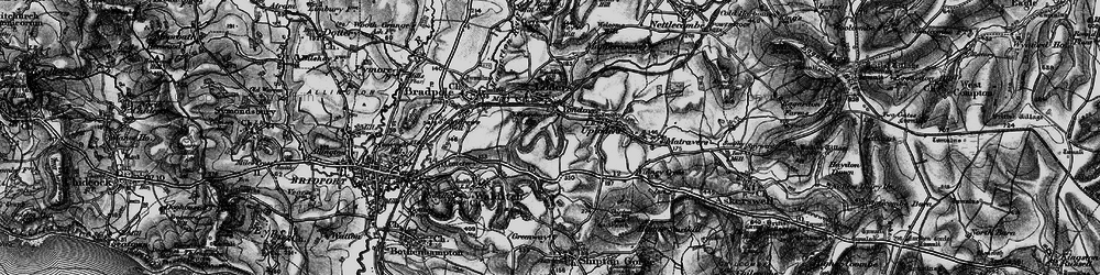 Old map of Yondover in 1897