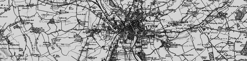 Old map of York in 1898