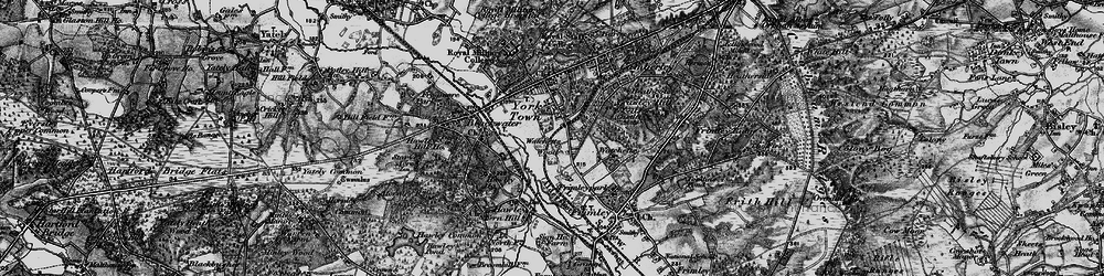 Old map of York Town in 1895
