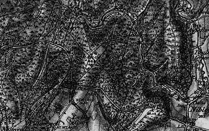 Old map of Yorkley Slade in 1896
