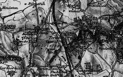 Old map of Yorton in 1899