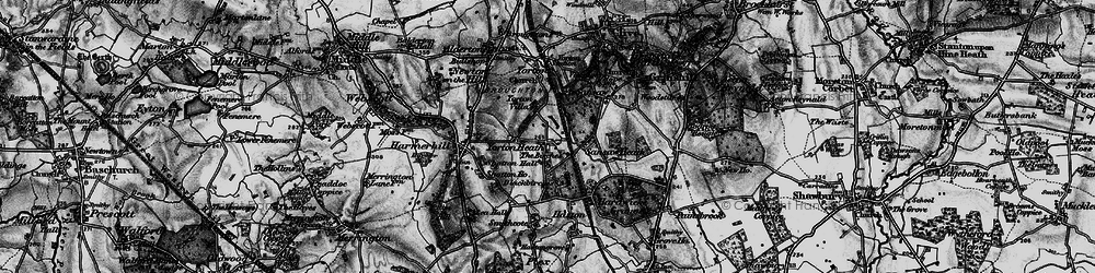 Old map of Yorton Heath in 1899