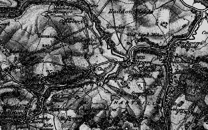 Old map of Youlgreave in 1897