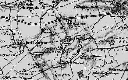 Old map of Youlthorpe in 1898